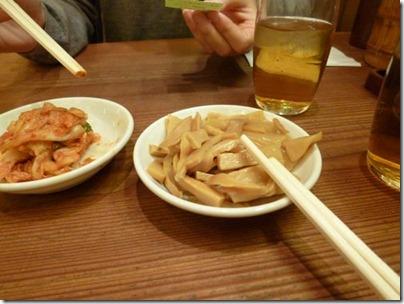 キムチとメンマは食べ放題
