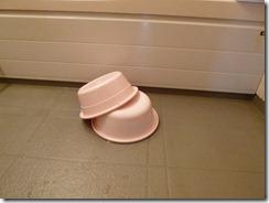 洗面器2つ、何のために?